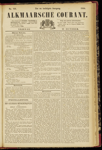 Alkmaarsche Courant 1884-10-10
