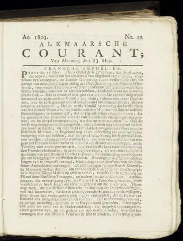 Alkmaarsche Courant 1803-05-23