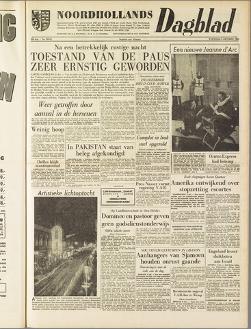Noordhollands Dagblad : dagblad voor Alkmaar en omgeving 1958-10-08