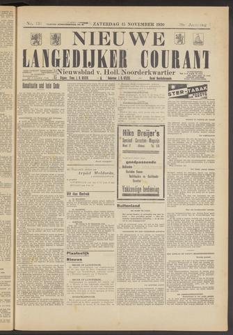 Nieuwe Langedijker Courant 1930-11-15