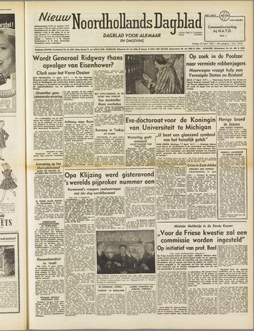 Nieuw Noordhollandsch Dagblad : voor Alkmaar en omgeving 1952-04-18