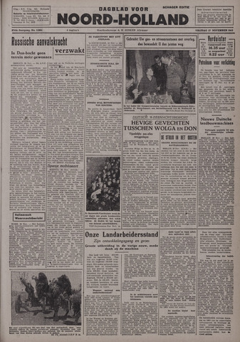 Dagblad Noord-Holland, Schager editie 1942-11-27
