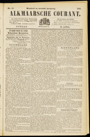 Alkmaarsche Courant 1905-04-23