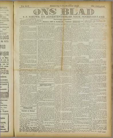 Ons Blad : katholiek nieuwsblad voor N-H 1919-09-01