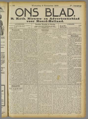 Ons Blad : katholiek nieuwsblad voor N-H 1909-11-03