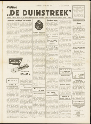 De Duinstreek 1959-11-13