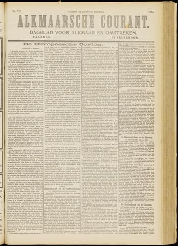 Alkmaarsche Courant 1914-09-14