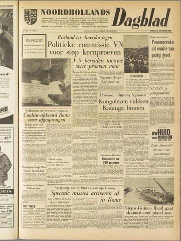 Noordhollands Dagblad : dagblad voor Alkmaar en omgeving 1961-11-03