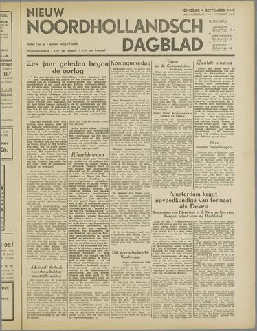 Nieuw Noordhollandsch Dagblad : voor Alkmaar en omgeving 1945-09-04