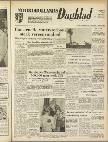 Noordhollands Dagblad : dagblad voor Alkmaar en omgeving 1953-09-25