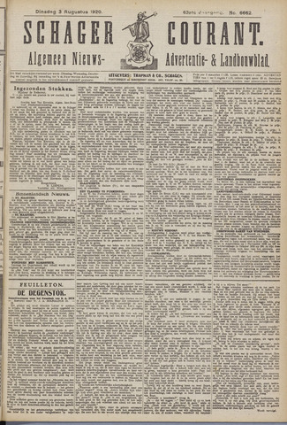 Schager Courant 1920-08-03