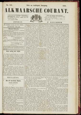 Alkmaarsche Courant 1881-11-27