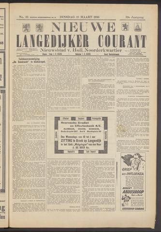 Nieuwe Langedijker Courant 1930-03-18
