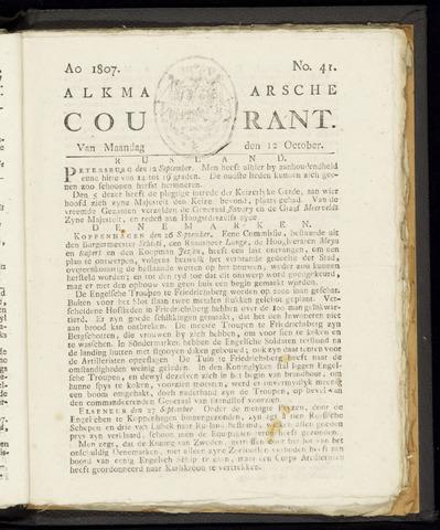 Alkmaarsche Courant 1807-10-12