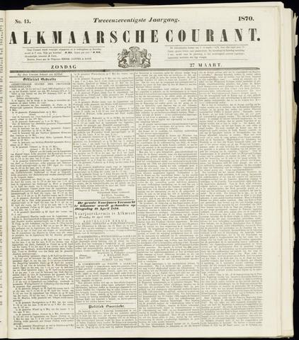Alkmaarsche Courant 1870-03-27