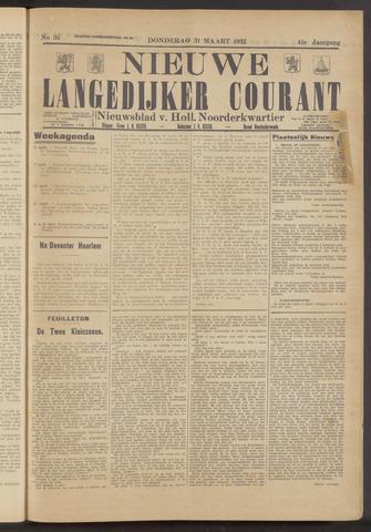 Nieuwe Langedijker Courant 1932-03-31