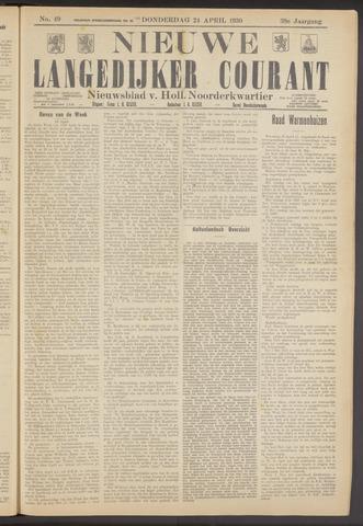 Nieuwe Langedijker Courant 1930-04-24