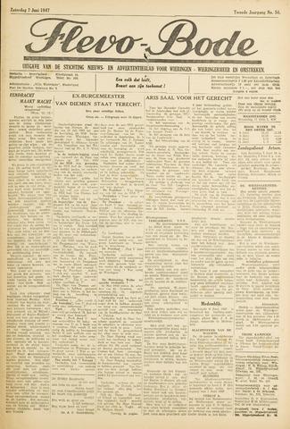 Flevo-bode: nieuwsblad voor Wieringen-Wieringermeer 1947-06-07