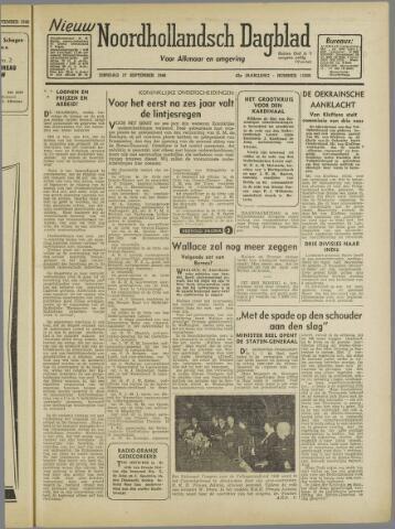 Nieuw Noordhollandsch Dagblad : voor Alkmaar en omgeving 1946-09-17
