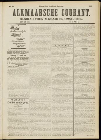 Alkmaarsche Courant 1912-04-23