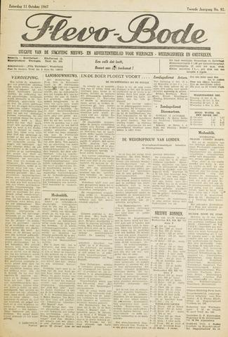 Flevo-bode: nieuwsblad voor Wieringen-Wieringermeer 1947-10-11