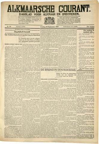 Alkmaarsche Courant 1933-09-29