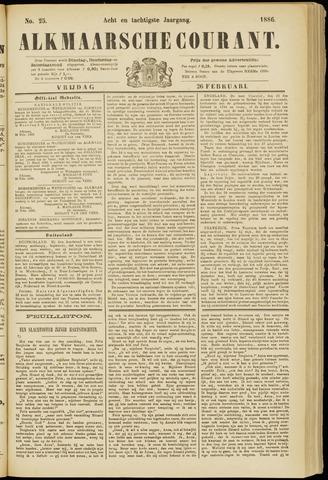 Alkmaarsche Courant 1886-02-26