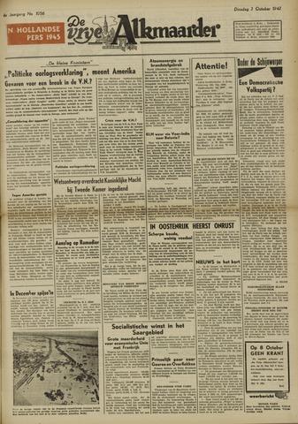 De Vrije Alkmaarder 1947-10-07