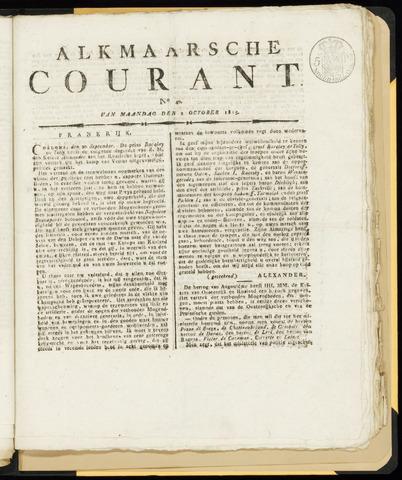 Alkmaarsche Courant 1815-10-02