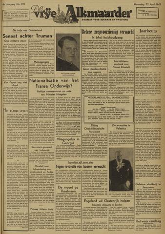 De Vrije Alkmaarder 1947-04-23
