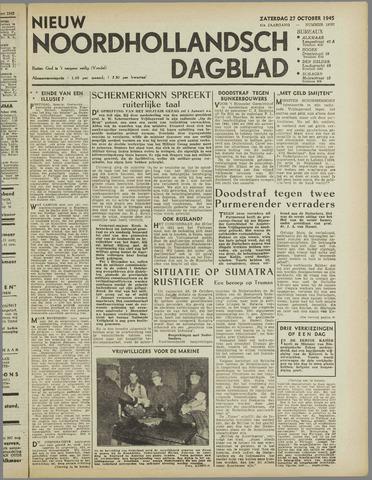 Nieuw Noordhollandsch Dagblad : voor Alkmaar en omgeving 1945-10-27