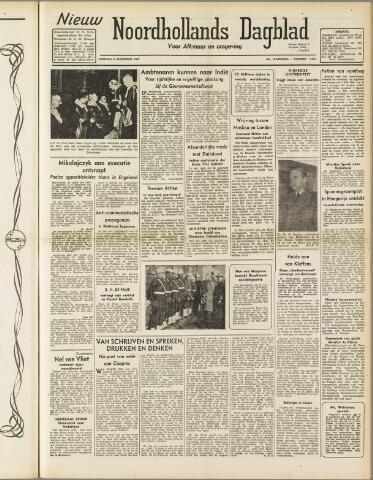 Nieuw Noordhollandsch Dagblad : voor Alkmaar en omgeving 1947-11-04