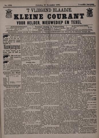 Vliegend blaadje : nieuws- en advertentiebode voor Den Helder 1884-12-20