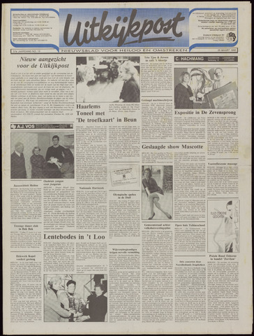 Uitkijkpost : nieuwsblad voor Heiloo e.o. 1992-03-25
