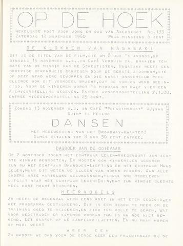 Op De Hoek, weekblad voor Akersloot 1960-11-12