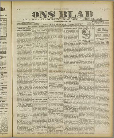 Ons Blad : katholiek nieuwsblad voor N-H 1921-02-26