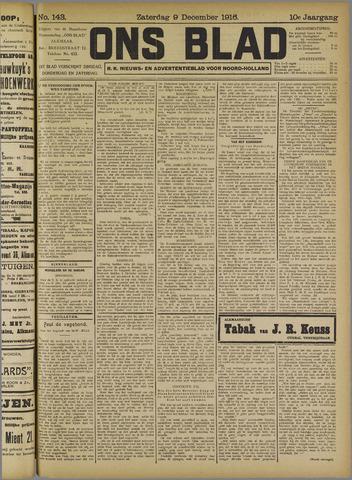 Ons Blad : katholiek nieuwsblad voor N-H 1916-12-09