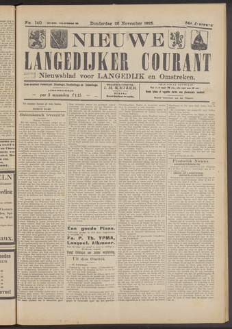 Nieuwe Langedijker Courant 1925-11-26