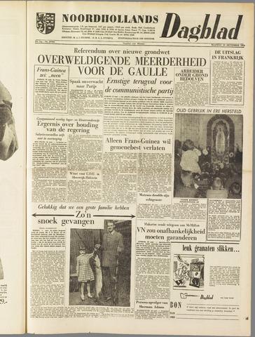 Noordhollands Dagblad : dagblad voor Alkmaar en omgeving 1958-09-29