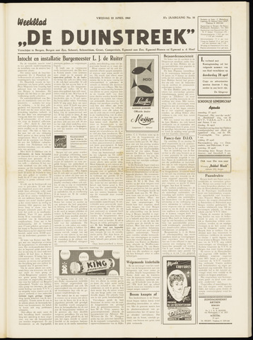 De Duinstreek 1960-04-22