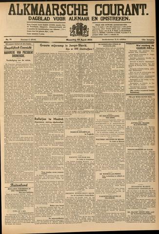 Alkmaarsche Courant 1934-04-23