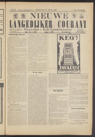 Nieuwe Langedijker Courant 1930-06-10
