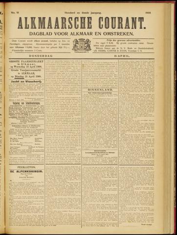 Alkmaarsche Courant 1908-04-16