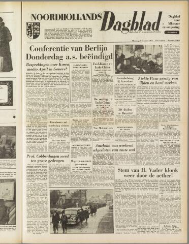 Noordhollands Dagblad : dagblad voor Alkmaar en omgeving 1954-02-15