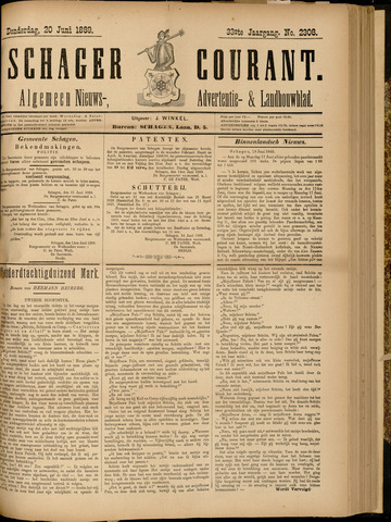 Schager Courant 1889-06-20