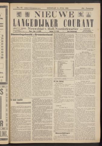 Nieuwe Langedijker Courant 1931-07-14