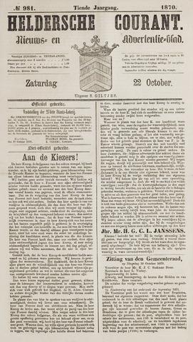 Heldersche Courant 1870-10-22
