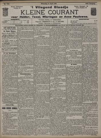 Vliegend blaadje : nieuws- en advertentiebode voor Den Helder 1909-04-21