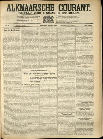 Alkmaarsche Courant 1933-03-09