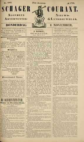 Schager Courant 1883-11-01